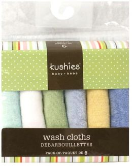 Kushies Wash Cloths Set - Boy