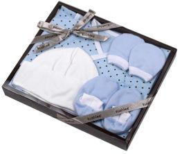 Kushies Newborn Kimono Gift Set - Boy (Blue Dots)