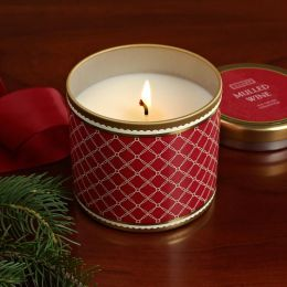 Mulled Wine Large Tin Candle
