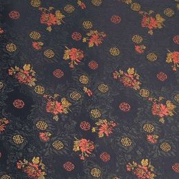 Longevity Satin Brocade Decorative Paper (set of 3) - Black/Red