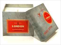 London Wanderlust Square Tin Candle