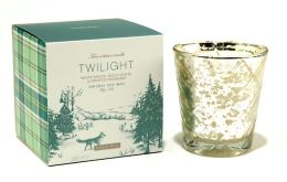 Twilight Winter Woodland Glass Candle 6oz