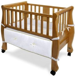 Arms Reach Concepts Co-Sleeper® Sleigh Bed Bassinet, Natural