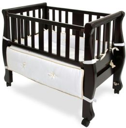 Arms Reach Concepts Co-Sleeper Sleigh Bed Bassinet, Espresso