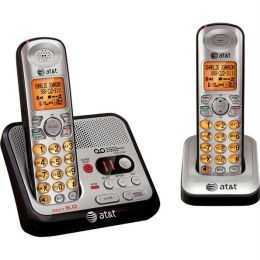 At&T Dect 6.0 Two Handset Cordless Phone With Digital Answering System