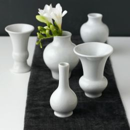 Williamsburg Chinois set of 5 Mini Vases White