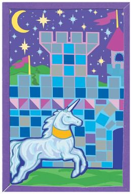 Mosaic Art Foam Kits-Castle/Unicorn