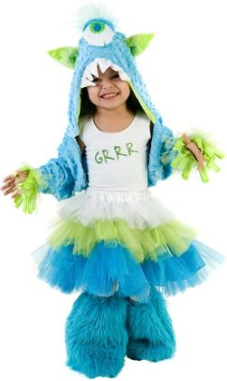 Grrr Monster Child Costume: Small/Medium