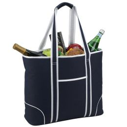 Large Cooler Tote in Navy/White