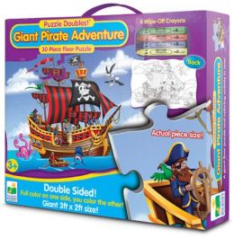 Puzzle Doubles Giant Pirate Adventure Floor Puzzle