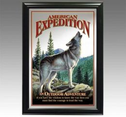 American Expediton MIRR-506 Gray Wolf Decorative Wildlife Wall Mirror