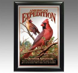 American Expediton MIRR-528 Northern Cardinal Decorative Wildlife Wall Mirror