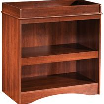 South Shore 2246334 Contemporary Pick-a-Boo Changing Table in Royal Cherry