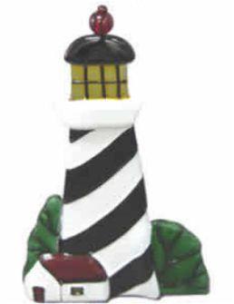 Regal Elite 7-475-11 Artglass Night Lights - Lighthouse Black-White