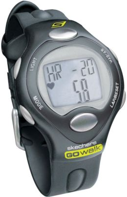 Skechers Go Walk SK3 Mens Strapless Heart Rate Monitor Fitwatch with Pedometer and Calorie Counter - Black