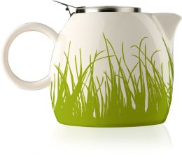 Spring Green Grass PUGG Teapot in Gift Box