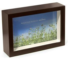 Chroma Walnut & Stone 4x6 Picture Frame
