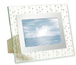 Celestial Clear Mirrored Border with Rhinestones Embellishment Frame 4x6