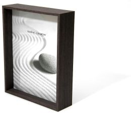 Stratton Charcoal Wood Veneer Depth Frame 8x10