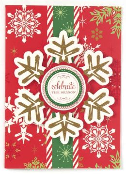 Celebrate The Season Snowflake Christmas Boxed Card