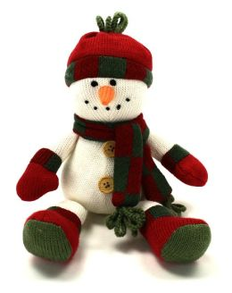 Merry Knitmas Large Snowman