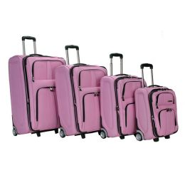 Fox Luggage F40-Pink 4Pc Eva Luggage Set Rockland