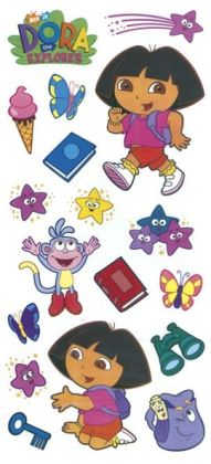 Dora The Explorer Stickers/Borders Packaged-Dora Stickers