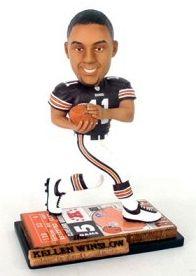Caseys Distributing 8132916557 Cleveland Browns Kellen Winslow Jr. Ticket Base Forever Collectibles Bobble Head