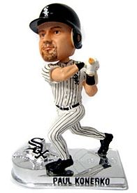 Caseys Distributing 8132932911 Chicago White Sox Paul Konerko Forever Collectibles Platinum Bobble Head