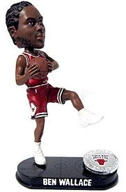Caseys Distributing 8132939811 Chicago Bulls Ben Wallance Forever Collectibles Blatinum Bobble Head