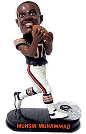 Caseys Distributing 8132946046 Chicago Bears Mussin Muhammad Forever Collectibles Black Base Edition Bobble Head