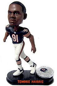 Caseys Distributing 8132946048 Chicago Bears Tommie Harris Forever Collectibles Black Base Edition Bobble Head