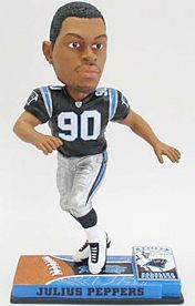 Caseys Distributing 8132963847 Carolina Panthers Julius Peppers Forever Collectibles On Field Bobble Head