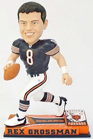 Caseys Distributing 8132963849 Chicago Bears Rex Grossman Forever Collectibles On Field Bobble Head