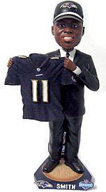Caseys Distributing 8132966635 Baltimore Ravens Troy Smith 2007 Draft Pick Bobble Head