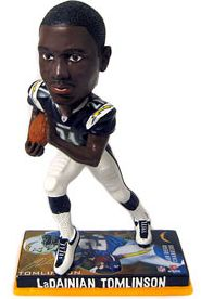 Caseys Distributing 8132973080 San Diego Chargers LaDainian Tomlinson Forever Collectibles Photo Base Bobble Head