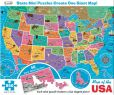 Product Image. Title: 850 Piece Map of the USA