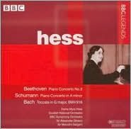 Beethoven: Piano Concerto no. 2; Schumann: Piano Concerto in A minor; Bach: Toccata in G, BWV 916