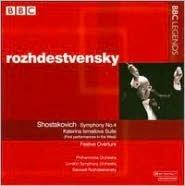 Shostakovich: Symphony No. 4; Katerina Ismailova Suite; Festive Overture