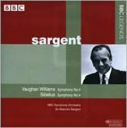 Vaughan Williams: Symphony No. 4; Sibelius: Symphony No. 4