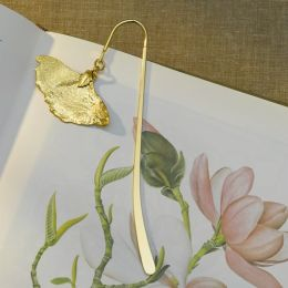 Gingko Leaf Gold Book Hook