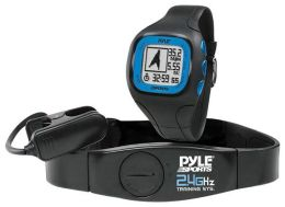 Pyle PSWGP405BL GPS Watch with Heart Rate, Navigation, Speed & Distance - Black