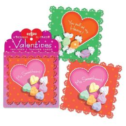 Candy Valentine Box Card Set of 32