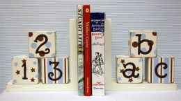 Newarrivals WBE-BBP Bookends in Blue and Chocolate