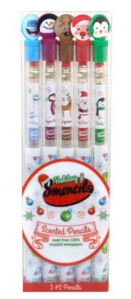 Holiday Smencils Gourmet Scented Pencils Set of 5