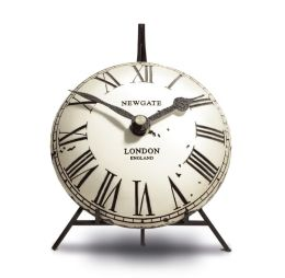 Mini Vex Antique Mantel Clock - Cream