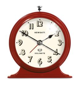 Dome Pedestal Alarm Clock - Red