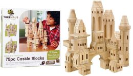 TreeHaus Wood Castle Block Set