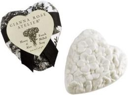 Heart Shaped Soap in Black Toile Tissue