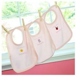 Cathys Concepts BL400P It's a Girl- Baby Bibs- Set of 3